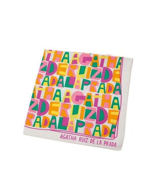 Comprar Barata Pañuelo Agatha Ruiz De La Prada Mujer – Pañuelo de Seda Agatha Blanco Venta en Línea Outlet 818_LRG alicess