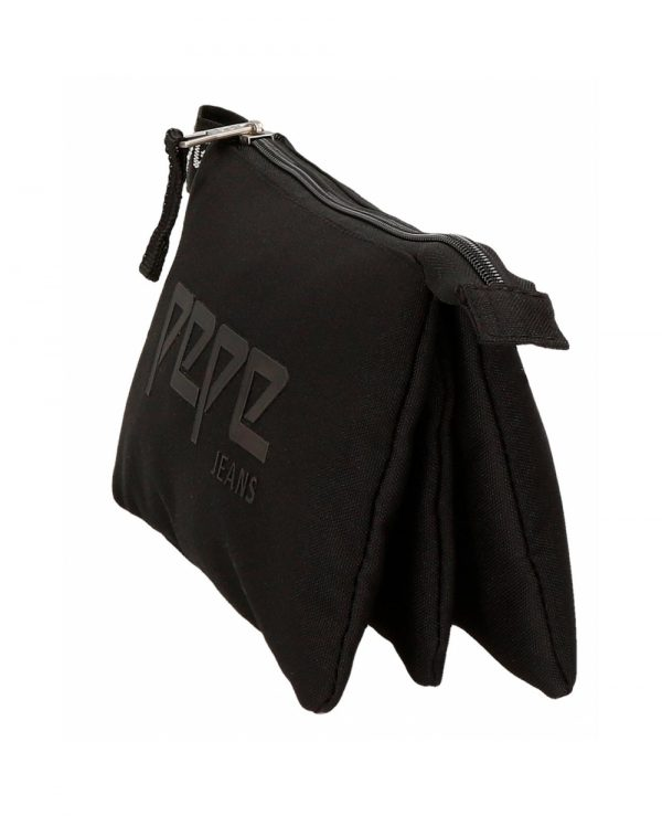 estuche-tres-compartimentos-osset-negro-pepe-jeans-negro-6454361-22cm portatodo pepe jeans alicess