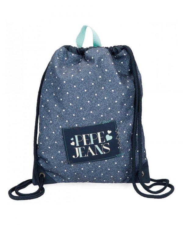 mochila-saco-olaia-azul-pepe-jeans-azul-6153861-44cm saco pepe jeans alicess