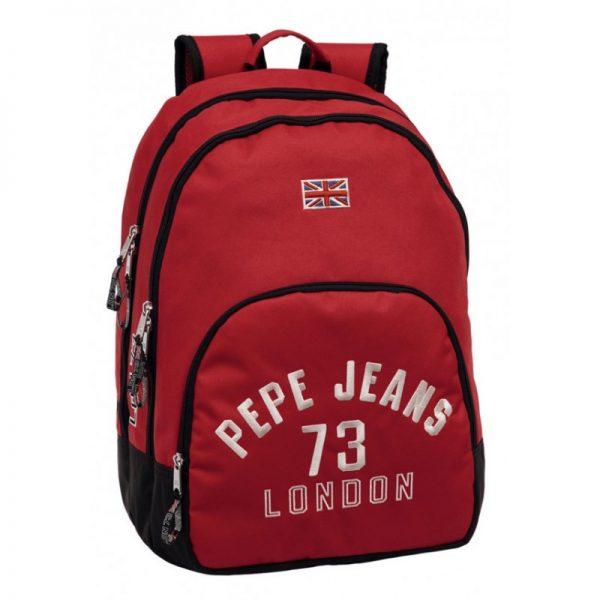 mochila-porta-ordenador-pepe-jeans-kanoa-rojo-doble-cremallera- MOCHILA PEPE JEANS ALICESS