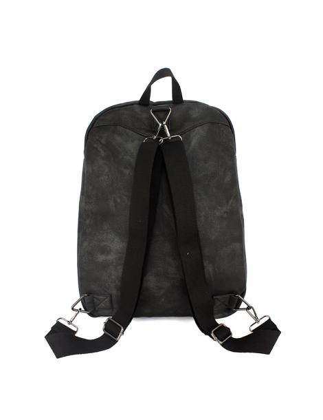 mochila-polipiel-lavada-negra mochila privata alicess